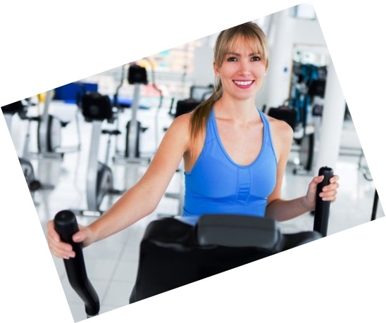 women on elliptical machine